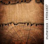 cracked wood background  | Shutterstock . vector #190061837