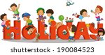 holidays for children | Shutterstock .eps vector #190084523