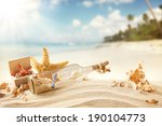 Summer Sandy Beach Concept Wit...