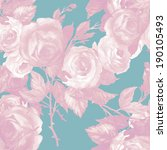 roses seamless pattern  | Shutterstock . vector #190105493