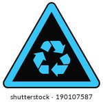 rounded triangle shape hazard... | Shutterstock .eps vector #190107587