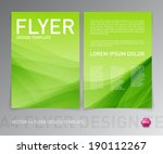 abstract vector modern flyer  ... | Shutterstock .eps vector #190112267