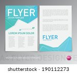 abstract vector modern flyer  ... | Shutterstock .eps vector #190112273