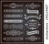 vintage design elements  ... | Shutterstock .eps vector #190119407