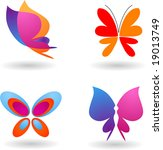 collection of butterfly  icons... | Shutterstock .eps vector #19013749