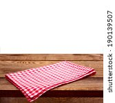 empty wooden deck table with...   Shutterstock . vector #190139507