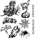 halloween vectors | Shutterstock .eps vector #19014454