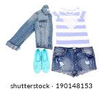 female clothing isolated on... | Shutterstock . vector #190148153