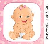 baby girl | Shutterstock .eps vector #190152683