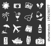 travel icons set | Shutterstock . vector #190158377
