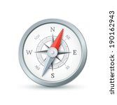 compass icon isolated on white...