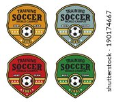 vector soccer badge   vector... | Shutterstock .eps vector #190174667
