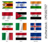 set  flags of world sovereign... | Shutterstock . vector #190182707