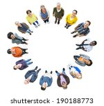 group of multiethnic people... | Shutterstock . vector #190188773