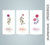 happy mother's day card | Shutterstock .eps vector #190203023