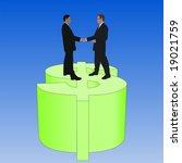 business men meeting with... | Shutterstock . vector #19021759