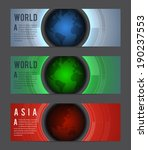 web banners with globes. eps10  ... | Shutterstock .eps vector #190237553