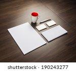 template for branding identity... | Shutterstock . vector #190243277