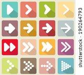 set arrow icons  flat ui design ... | Shutterstock .eps vector #190264793