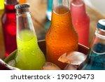assorted organic craft sodas... | Shutterstock . vector #190290473