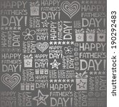 happy father day. seamless... | Shutterstock .eps vector #190292483