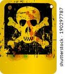 danger o. warning sign free... | Shutterstock .eps vector #190297787