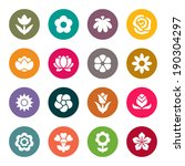 flower icon set | Shutterstock .eps vector #190304297