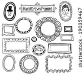vector hand drawn frames set in ... | Shutterstock .eps vector #190359467
