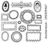 vector hand drawn frames set in ... | Shutterstock .eps vector #190359467