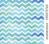 blue painted zigzag background... | Shutterstock . vector #190375763