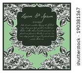 wedding invitation cards with... | Shutterstock .eps vector #190381367
