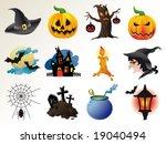 set of fairy halloween icons.... | Shutterstock .eps vector #19040494