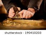 senior man or carpenter doing