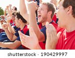 spectators in team colors... | Shutterstock . vector #190429997