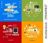 set of modern stickers. concept ... | Shutterstock . vector #190469837