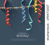 birthday background with... | Shutterstock .eps vector #190471037