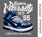 sneakers graphic design | Shutterstock .eps vector #190522763