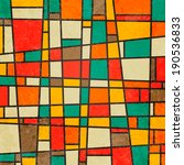 abstract geometric retro... | Shutterstock .eps vector #190536833