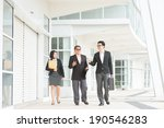 full length asian business team ... | Shutterstock . vector #190546283