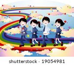 happy school | Shutterstock .eps vector #19054981