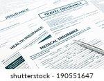 medical insurance form ... | Shutterstock . vector #190551647