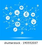 internet concept. network... | Shutterstock .eps vector #190552037