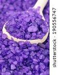 Heap Of Violet Bath Salt And...