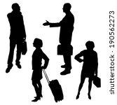vector silhouette of business... | Shutterstock .eps vector #190562273
