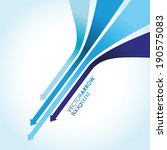 blue arrow line background | Shutterstock .eps vector #190575083