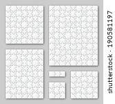 puzzle set   white   6 puzzles   Shutterstock .eps vector #190581197