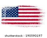 brushstroke flag united states... | Shutterstock .eps vector #190590197