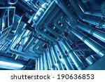 industrial steel pipelines and... | Shutterstock . vector #190636853