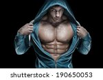 strong athletic man fitness... | Shutterstock . vector #190650053
