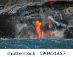 lava flowing into pacific ocean ...
